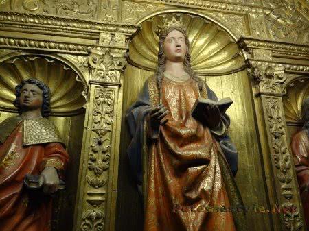 Позолоченные статуи Святых в Кафедральном соборе Толедо