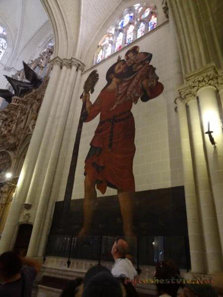 Изображение Святого Христофора в Соборе Толедо