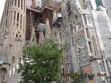 Процесс строительства  храма Саграда Фамилия в Барселоне