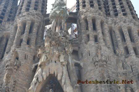 Узоры декора Храма Святого Семейства в Барселоне