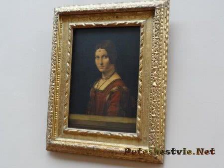 Красивое произведение искусства в Лувре
