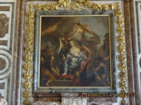 Полотно на стене Версаля
