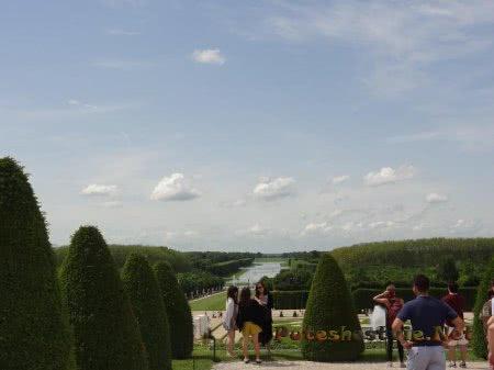 Вид на сады Версаля и его фонтаны