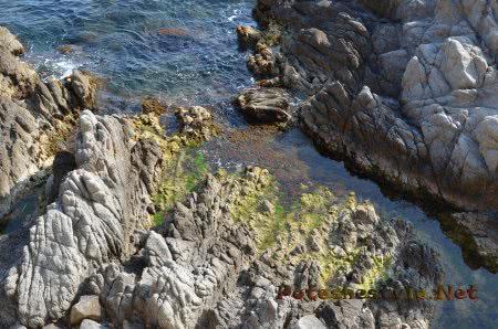 Интересные виды скал в Ллорет-де-Мар