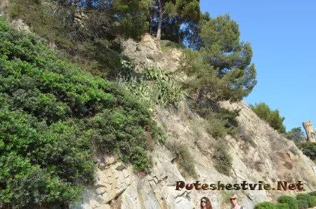 Скалы вдоль Набережной Ллорет-де-Мар