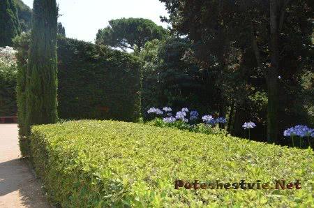 Чудесная растительность в Саду Святой Клотильды в Ллорет-де-Мар