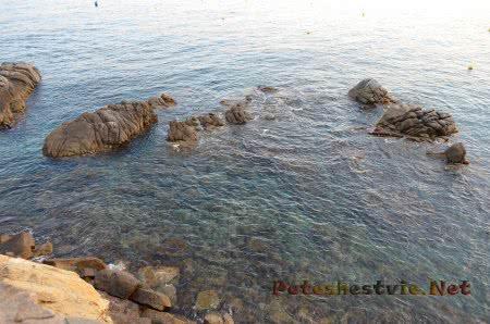 Очень хорошая видимость в воде в Ллорет-де-Мар