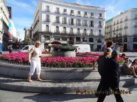 Фонтан на Площади Солнца в Мадриде