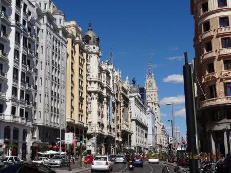Очень красивая улица испанской столицы