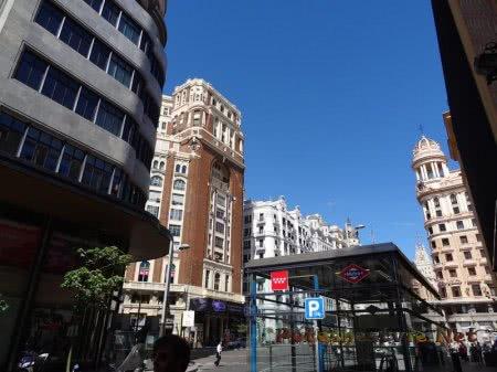 Вход на станцию метро в Мадриде