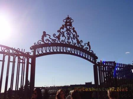 Ажурная кованная арка