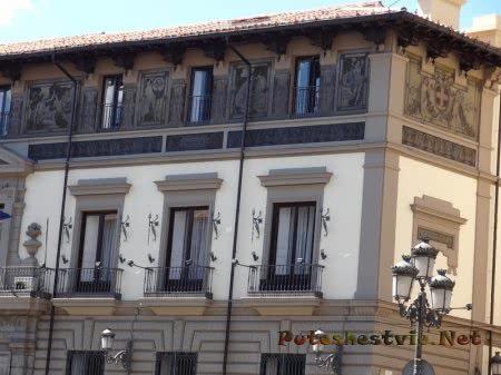 Изящная роспись здания в Мадриде