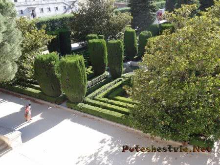 Лабиринт зеленых насаждений в Мадриде