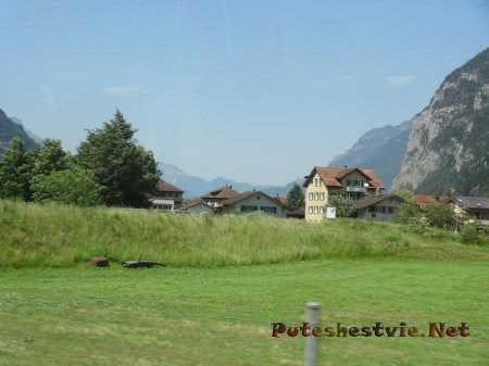 Горный поселок в прекрасной Швейцарии