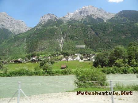 Деревня среди горных красот