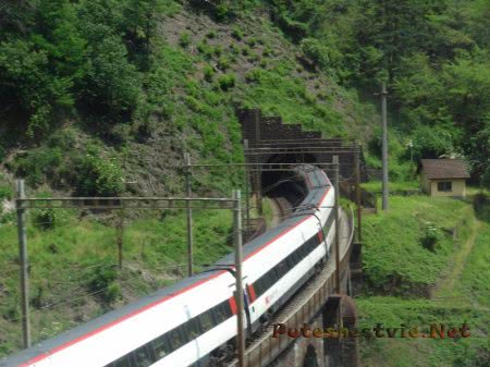 Горный тоннель в Альпах