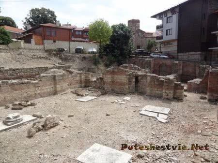 Раскопки римских терм в Несебре