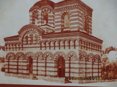 План Церкви Архангелов Михаила и Гавриила в городе Несебр
