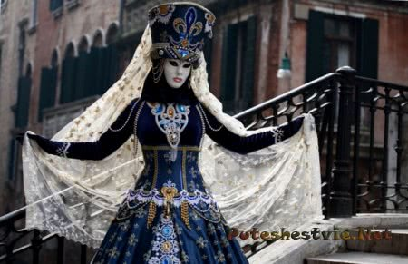 карнавал в Венеции с костюмами