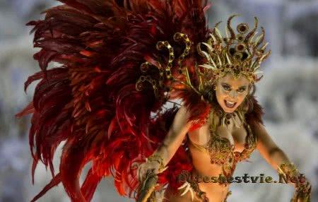 красивые девушки на карнавале в Бразилии