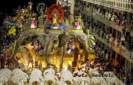 карнавал в Бразилии в Рио-де-Жанейро