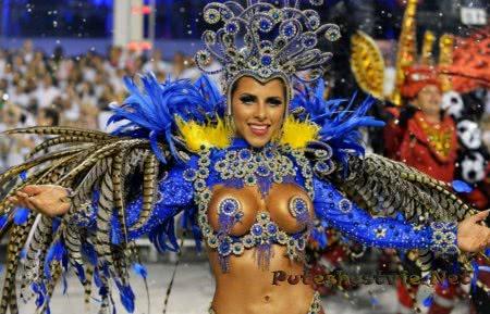 очаровательные бразильянки на Бразильском карнавале