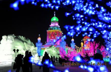 китайский фестиваль льда и снега в Харбине
