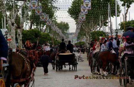 Севильская апрельская ярмарка в Испании