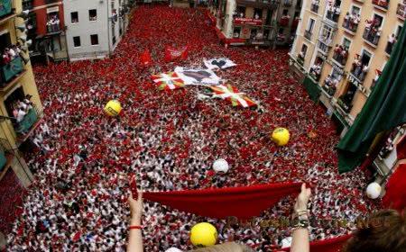 Праздник Сан-Фермин в испанском городе Памплона