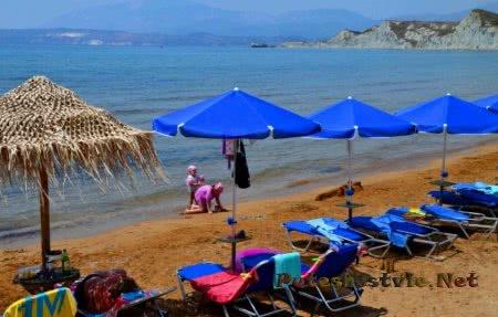 Пляж Мегас Лакос