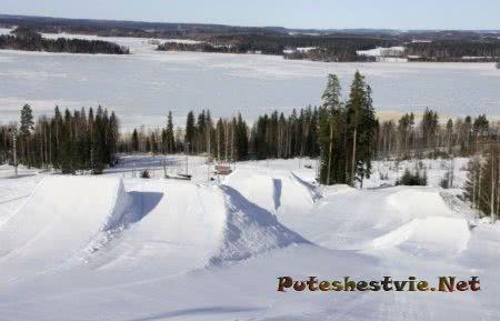 Горнолыжный курорт Ювяскюля в Финляндии