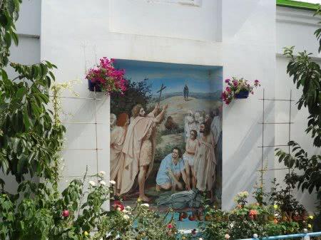 Икона на стене Церкви Святой Екатерины в Феодосии