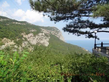 Обзор со смотровой площадки Красной скалы в Крыму