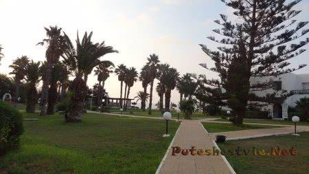 Ухоженная территория отеля Эль Муради Бич Хаммамет