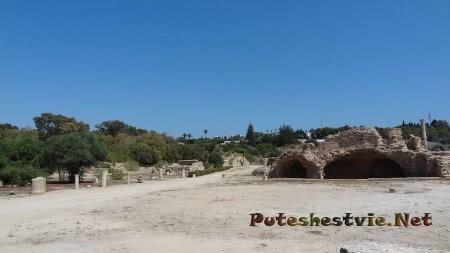 Помещение римских бань в Тунисе