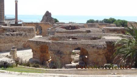Помещения первого этажа римских терм Карфагена