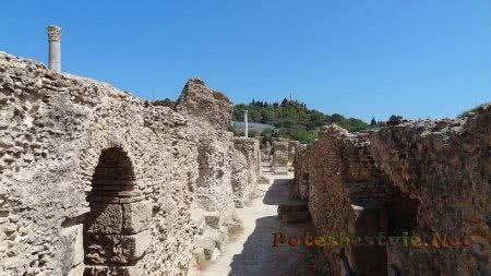 Коридоры римских бань Карфагена