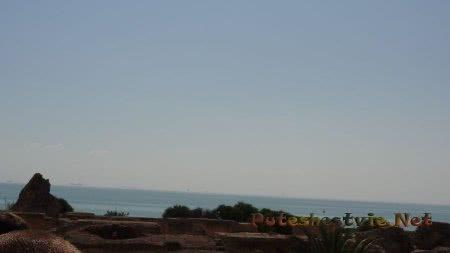 Вид на море с территории римских терм в Карфагене