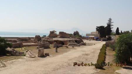 Руины терм римлян в Карфагене