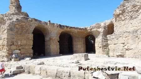 Подземное помещение бань римлян
