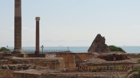 Помещения бань римлян в Карфагене