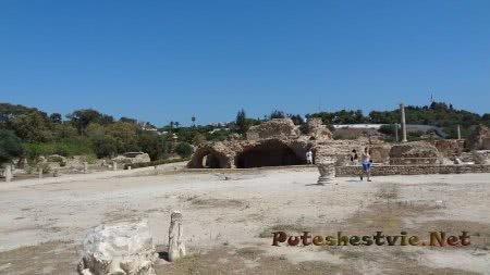 Панорама на часть римских терм