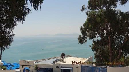 Вид на море вокруг Сиди-бу-Саида