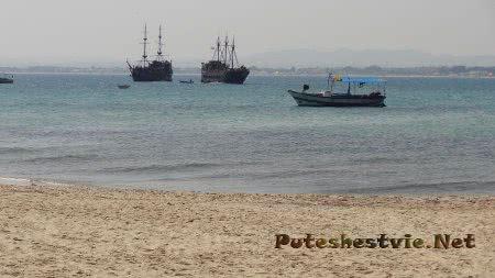 Морской берег Хаммамета