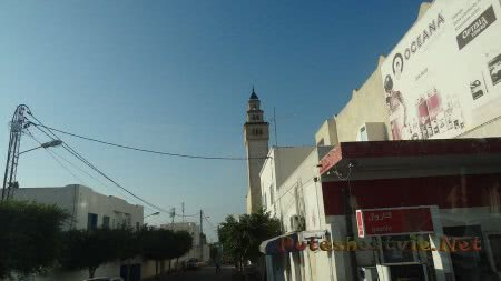 Тихая улочка Хаммамета