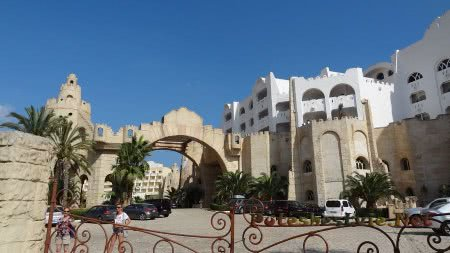Территория отеля в Хаммамете