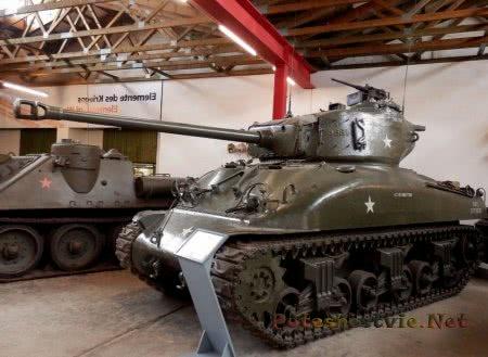 танк шерман в музее