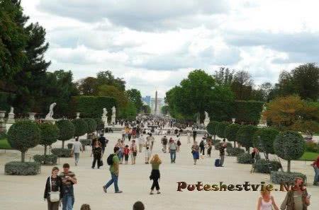 Сад Тюильри Париж