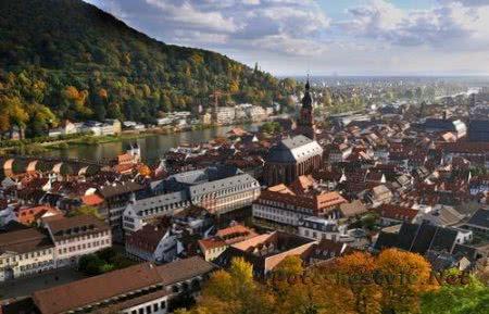 Гейдельберг - красивый город в Германии