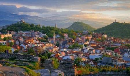 Город Пловдив в Болгарии